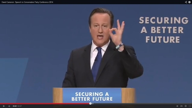 David Cameron 666 all seeing eye conservative conference 2014