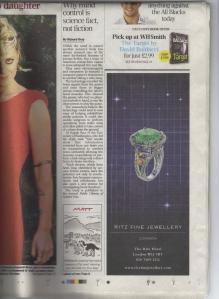 Daily Telegraph 08 November 2014