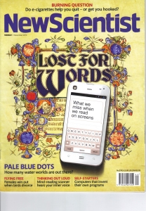 Hearign thoughts is front page in this issue of New Scientist magazine published on 01 November 2014