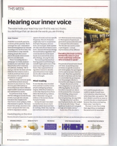 New Scientist Magazine pg8 issue 2993